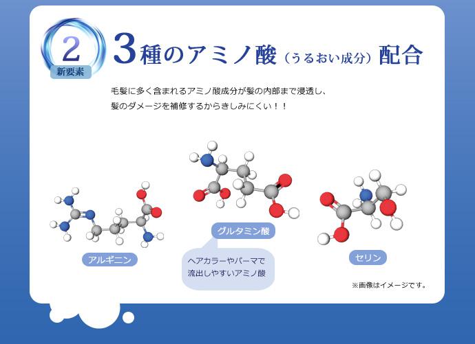 3種のアミノ酸(うるおい成分)配合