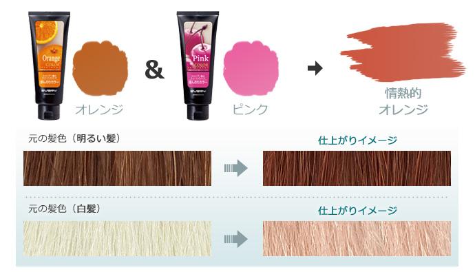 エブリ カラートリートメント|オレンジ+ピンク