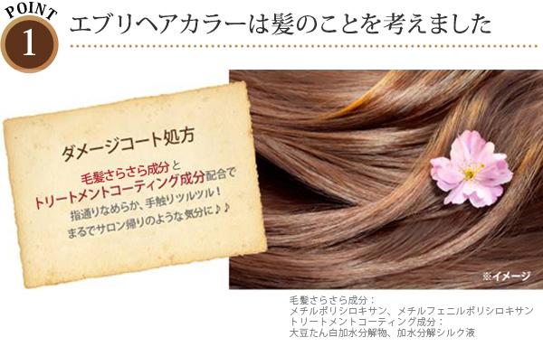 ポイント1:エブリヘアカラーは髪のことを考えました